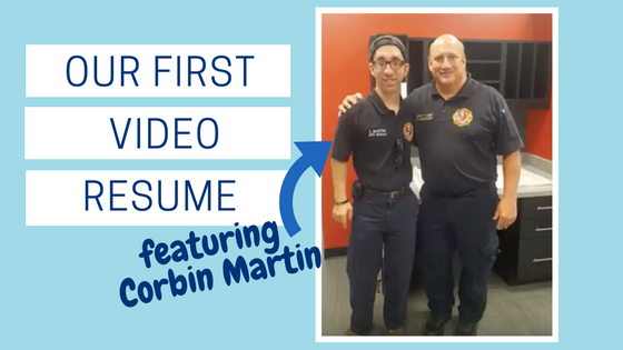 our first video resume featuring corbin